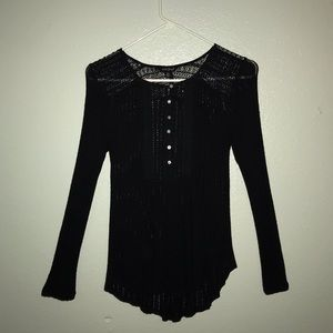 LUCKY BRAND black lace top